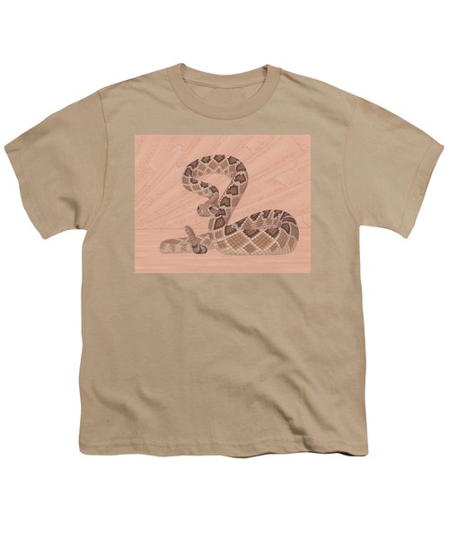 Western Diamondback Rattlesnake Youth T-Shirt by Nathan Marcy