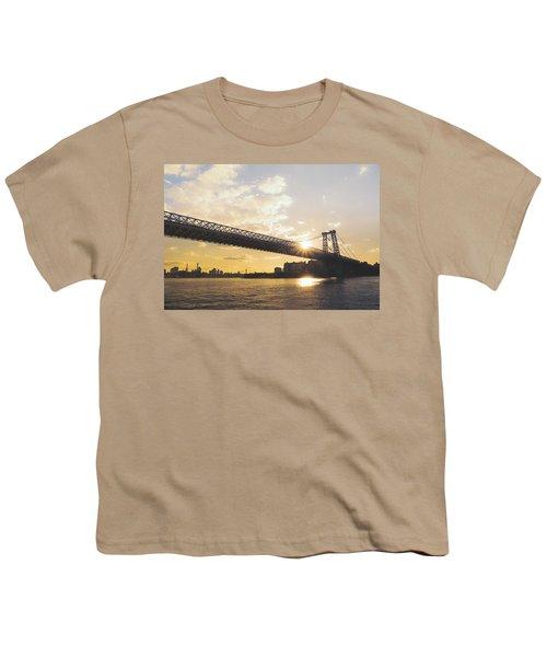 Williamsburg Bridge - Sunset - New York City Youth T-Shirt
