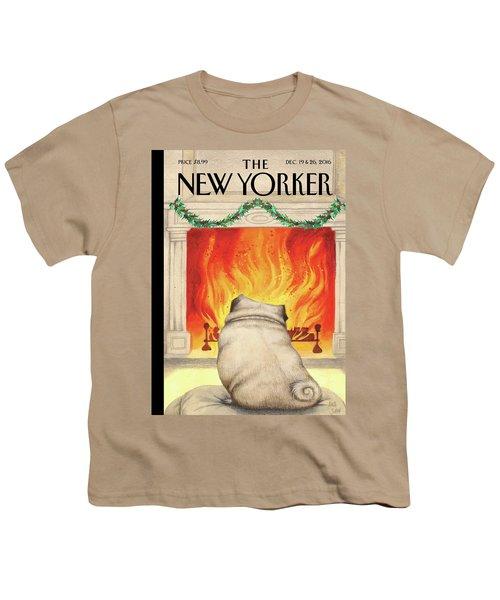Yule Dog Youth T-Shirt