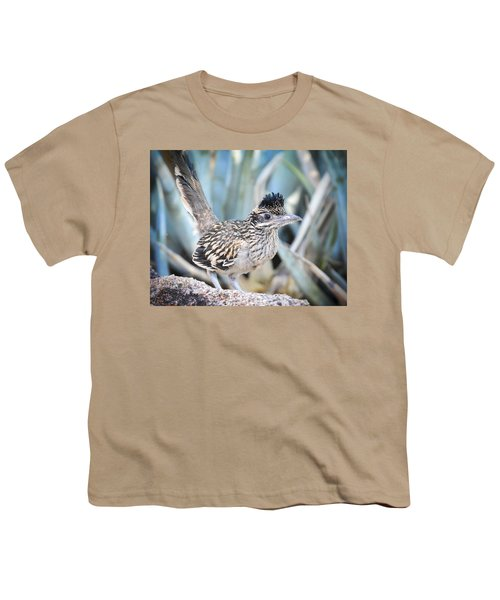 A Juvenile Greater Roadrunner  Youth T-Shirt by Saija  Lehtonen