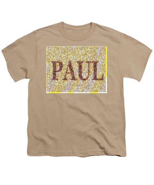 Custom Paul Mosaic Taylor Swift Youth T-Shirt by Paul Van Scott