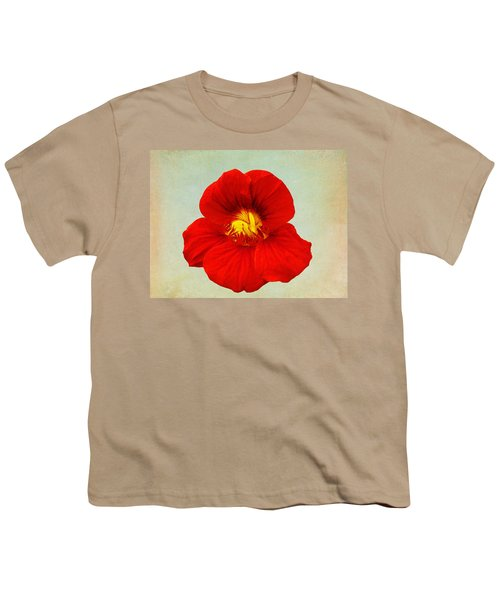 Daylily On Texture Youth T-Shirt by Bill Barber