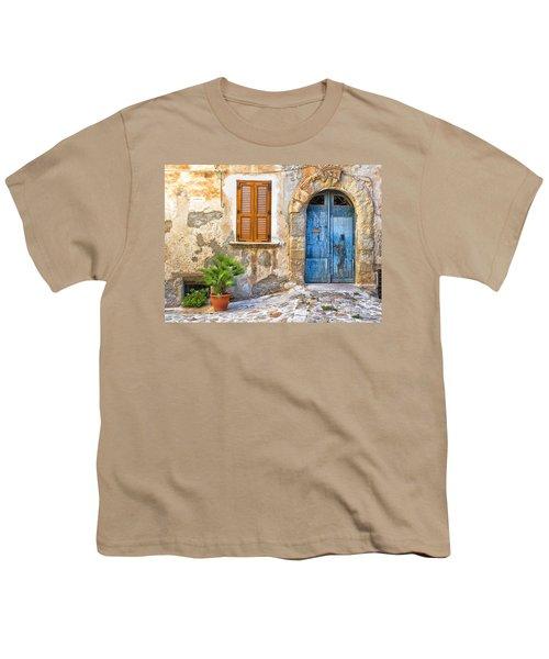 Mediterranean Door Window And Vase Youth T-Shirt