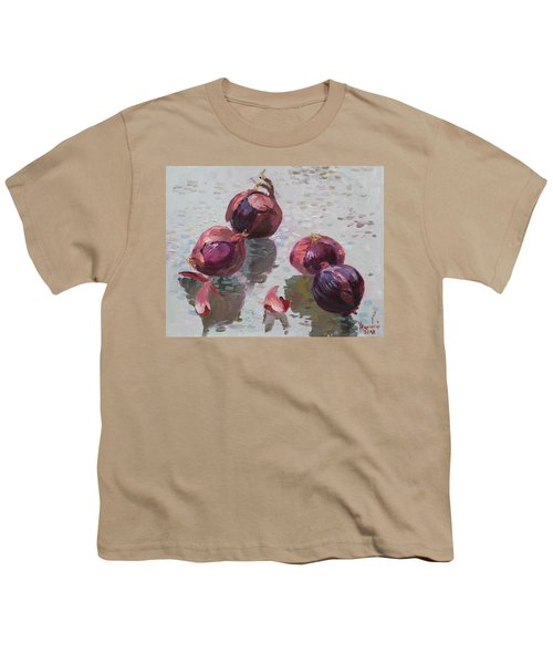 Red Onions Youth T-Shirt by Ylli Haruni