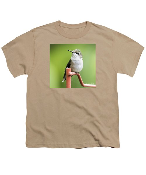 Youth T-Shirt featuring the photograph  Ruby-throated Hummingbird  by Ricky L Jones