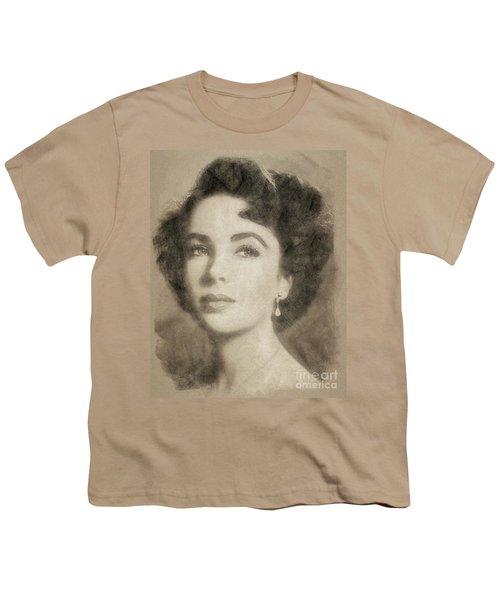 Elizabeth Taylor Hollywood Actress Youth T-Shirt by John Springfield