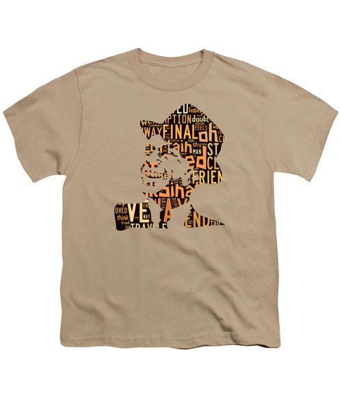 Frank Sinatra I Did It My Way Youth T-Shirt by Marvin Blaine