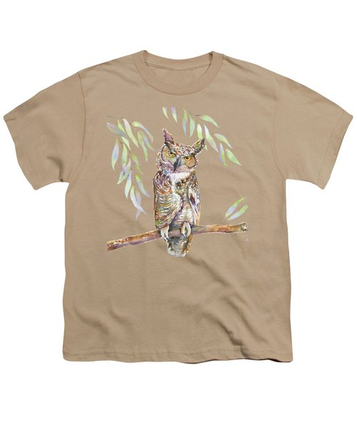 Great Horned Owl  Youth T-Shirt by Amy Kirkpatrick