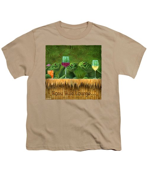 Honu Hula Lounge... Youth T-Shirt by Will Bullas