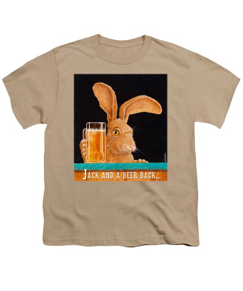 Jack And A Beer Back... Youth T-Shirt by Will Bullas