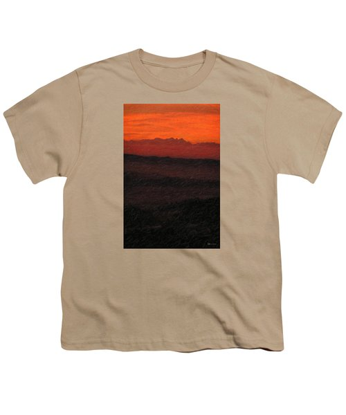 Not Quite Rothko - Blood Red Skies Youth T-Shirt by Serge Averbukh
