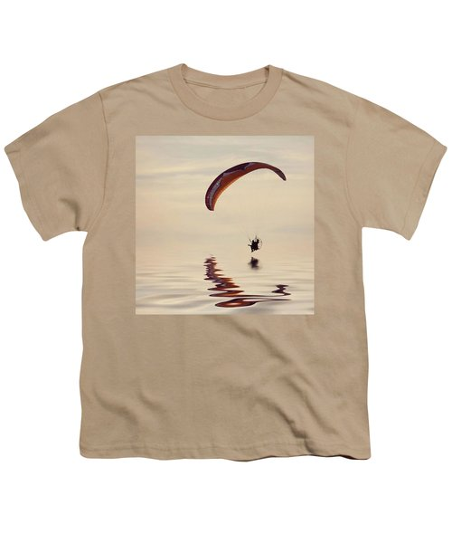 Powered Paraglider Youth T-Shirt by John Edwards