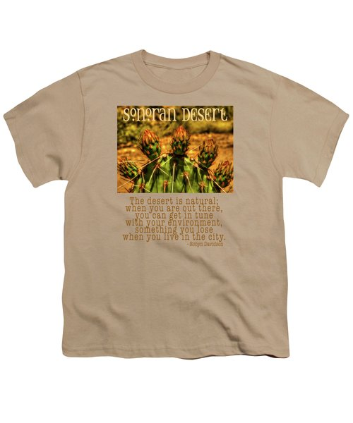 Prickly Pear Cactus Youth T-Shirt by Roger Passman