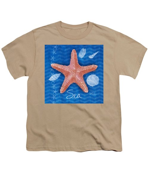 Seashells On Blue-sea Youth T-Shirt