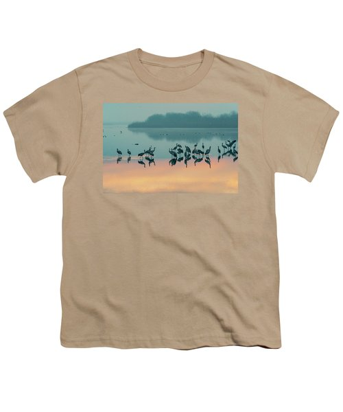 Sunrise Over The Hula Valley Youth T-Shirt by Dubi Roman