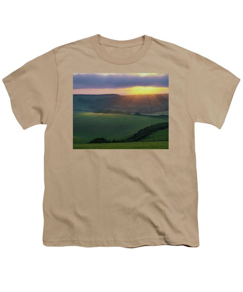 Sunset Over The South Downs Youth T-Shirt