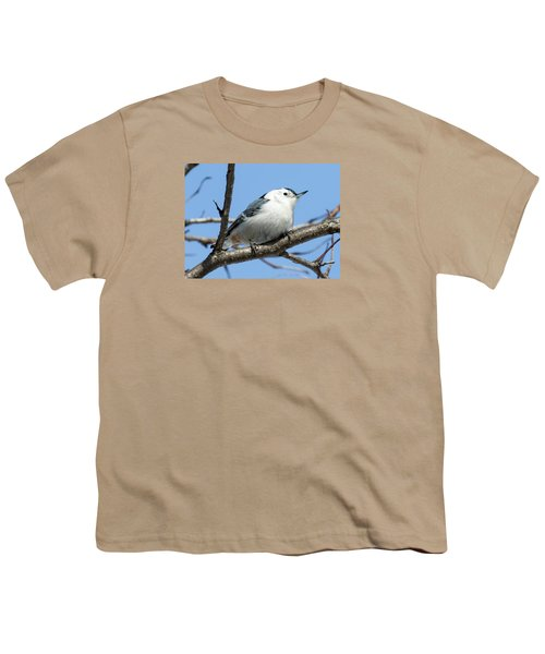 White-breasted Nuthatch Youth T-Shirt by Ricky L Jones