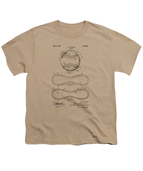1928 Baseball Patent Artwork Vintage Youth T-Shirt by Nikki Marie Smith