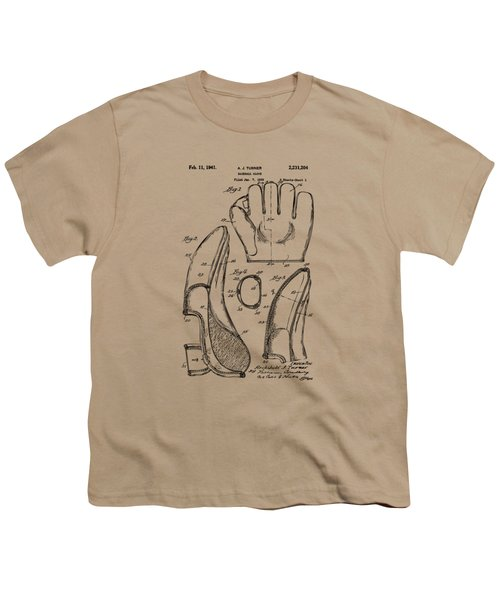1941 Baseball Glove Patent - Vintage Youth T-Shirt by Nikki Marie Smith