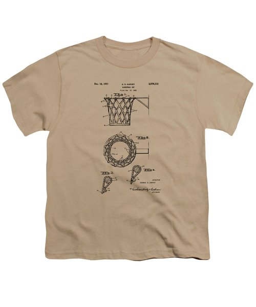 1951 Basketball Net Patent Artwork - Vintage Youth T-Shirt by Nikki Marie Smith
