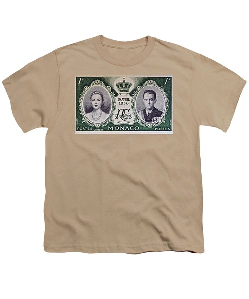 1956 Princess Grace Of Monaco Stamp II Youth T-Shirt by Bill Owen
