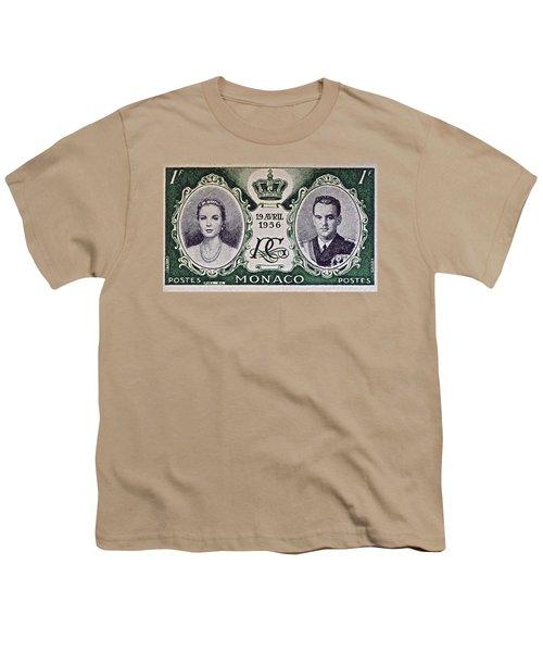 1956 Princess Grace Of Monaco Stamp II Youth T-Shirt by Bill Owen