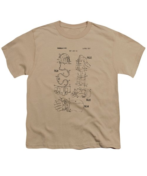 1973 Space Suit Elements Patent Artwork - Vintage Youth T-Shirt by Nikki Marie Smith
