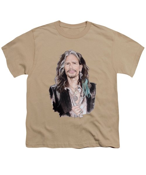 Steven Tyler  Youth T-Shirt by Melanie D
