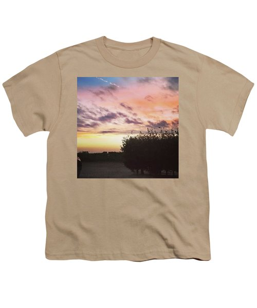 A Beautiful Morning Sky At 06:30 This Youth T-Shirt by John Edwards