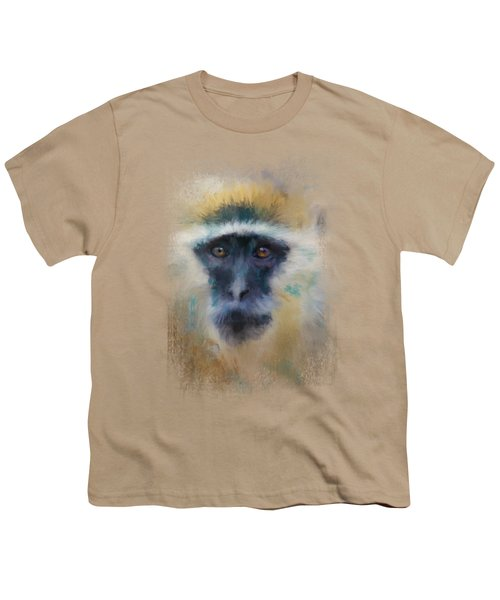 African Grivet Monkey Youth T-Shirt by Jai Johnson