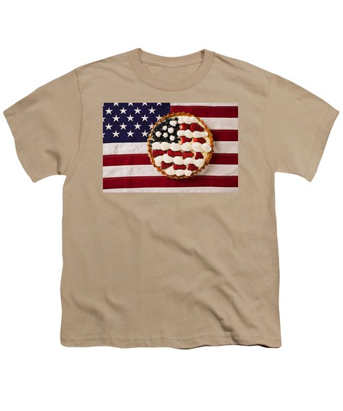 American Pie On American Flag  Youth T-Shirt