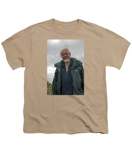 Youth T-Shirt featuring the photograph An Englishman In Castlerigg, Uk by Dubi Roman
