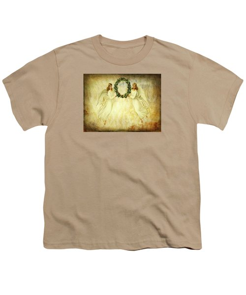 Angels Christmas Card Or Print Youth T-Shirt by Bellesouth Studio