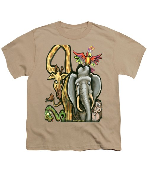 Zoo Animals Youth T-Shirt by Kevin Middleton