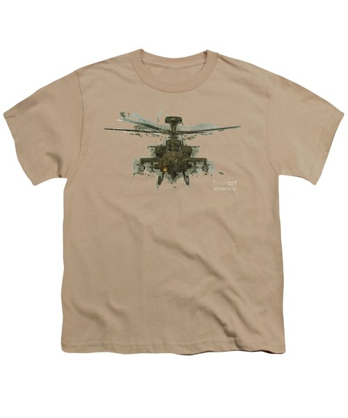 Apache Helicopter Abstract Youth T-Shirt