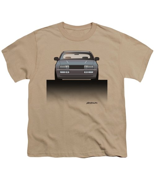 Modern Euro Icons Series Vw Corrado Vr6 Youth T-Shirt by Monkey Crisis On Mars