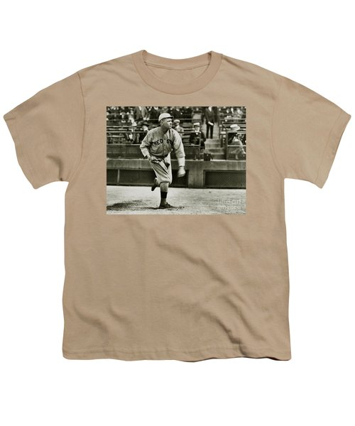Babe Ruth Pitching Youth T-Shirt