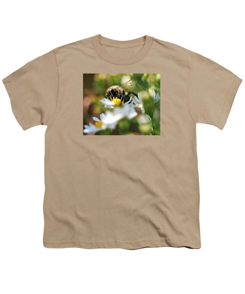 Bee On Aster Youth T-Shirt