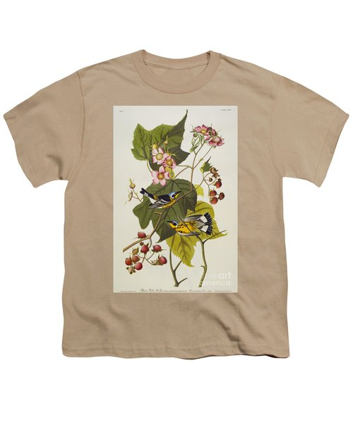 Black And Yellow Warbler Youth T-Shirt