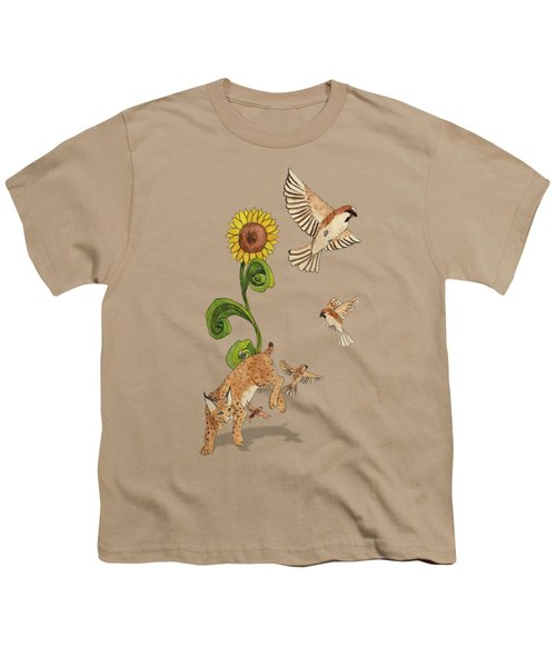 Bobcats And Beeswax Youth T-Shirt by Teighlor Chaney