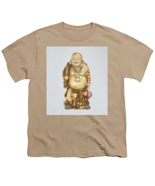 Youth T-Shirt featuring the mixed media Buddha by TortureLord Art