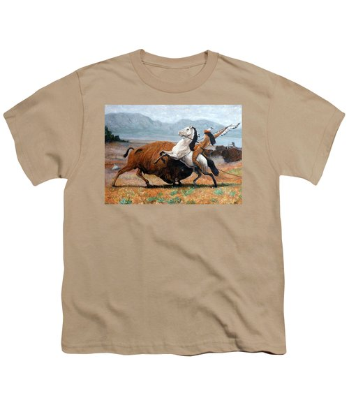Buffalo Hunt Youth T-Shirt