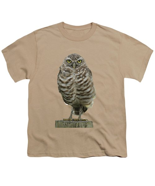 Burrowing Owl Lookout Youth T-Shirt