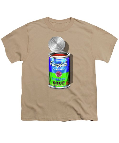 Campbell's Soup Revisited - Blue And Green Youth T-Shirt