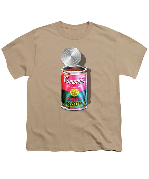 Campbell's Soup Revisited - Pink And Green Youth T-Shirt by Serge Averbukh