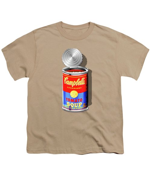 Campbell's Soup Revisited - Red And Blue   Youth T-Shirt