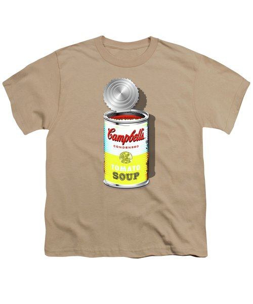 Campbell's Soup Revisited - White And Yellow Youth T-Shirt by Serge Averbukh