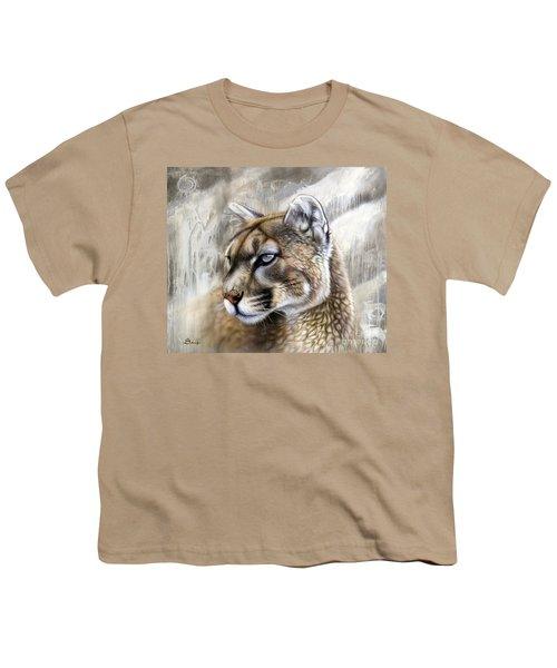 Catamount Youth T-Shirt by Sandi Baker