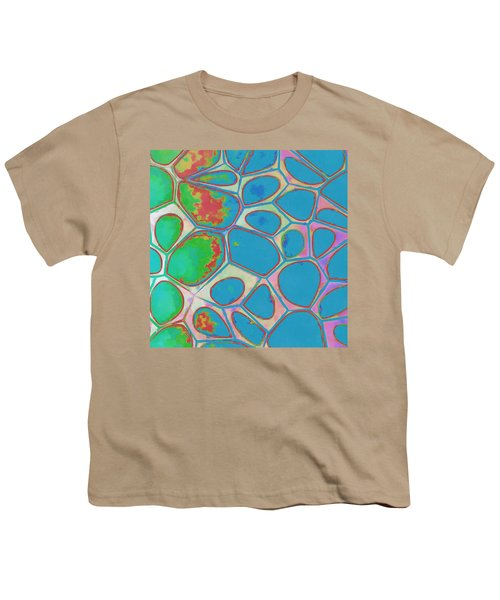 Cells Abstract Three Youth T-Shirt by Edward Fielding