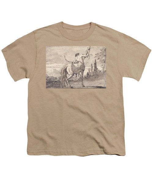 Centaur Holding Up A Quiver Youth T-Shirt